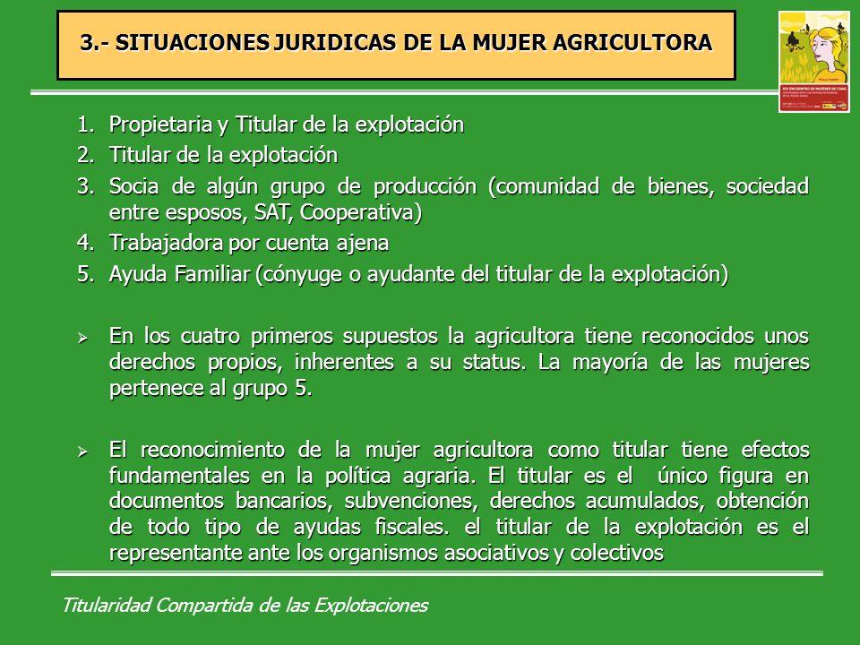 Titularidad Compartida de las Explotaciones Explotación Agraria: conjunto de bienes y derechos organizados empresarialmente por su titular en el ejercicio de la actividad, primordialmente con fines de mercado, y que constituye una unidad técnico- económica.