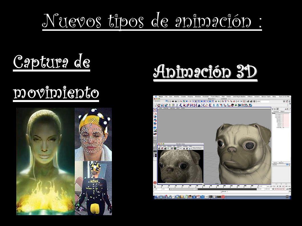 Nuevos tipos de animación : Captura de movimiento Animación 3D
