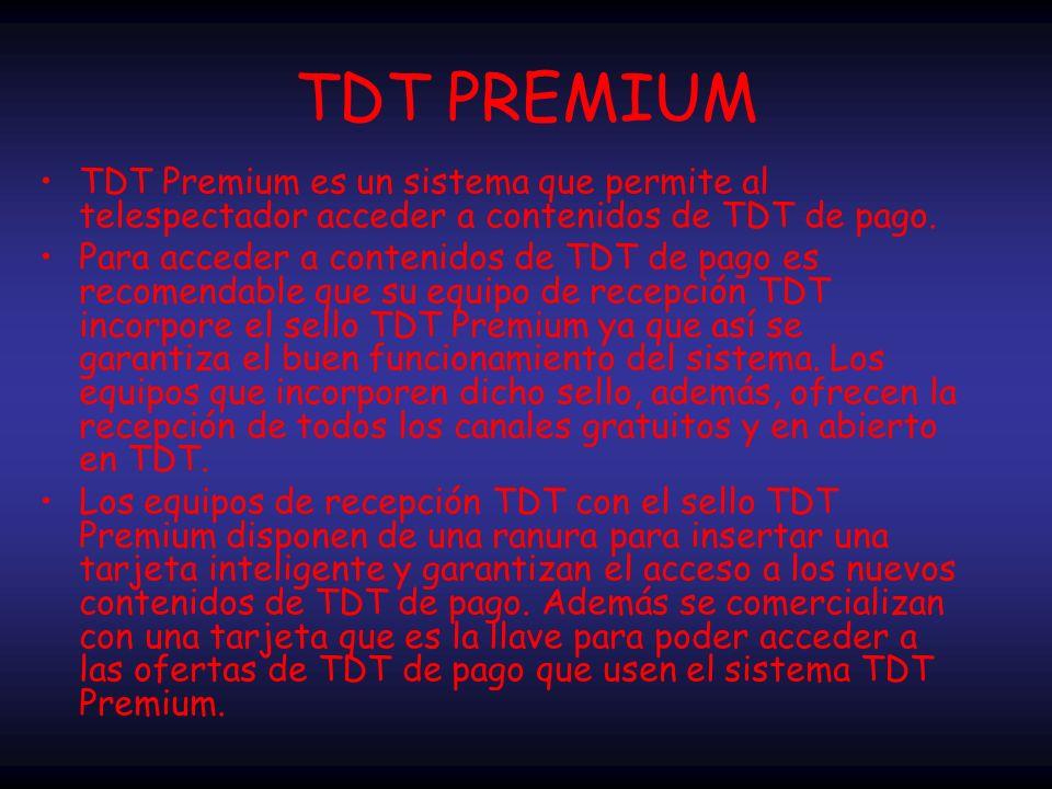 TDT en España En el año 2000 entró en funcionamiento la primera plataforma comercial de Televisión Digital Terrestre (TDT) en España pero no alcanzó la rentabilidad esperada y cesó sus distintas emisiones el 30 de junio de 2002.