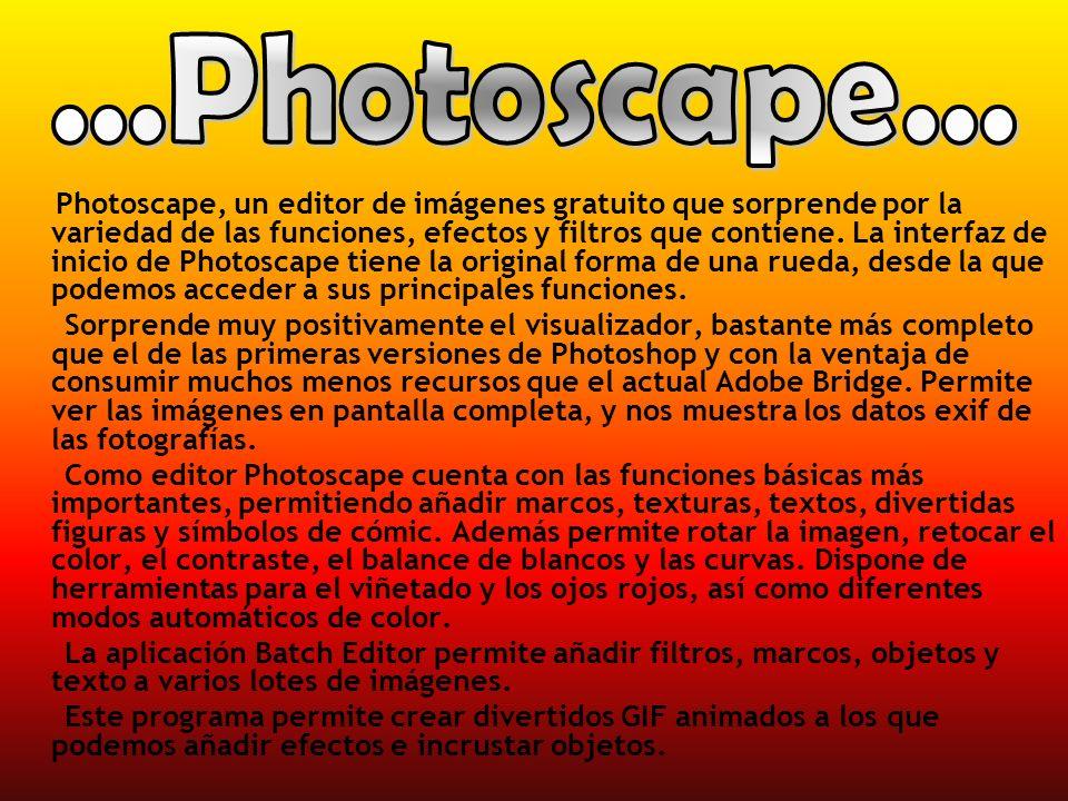 Photoscape, un editor de imágenes gratuito que sorprende por la variedad de las funciones, efectos y filtros que contiene. La interfaz de inicio de Ph