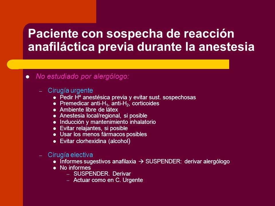 Bibliografía Scandinavian Clinical Practice Guidelines on the diagnosis, management and follow-up of anaphylaxis during anaesthesia.