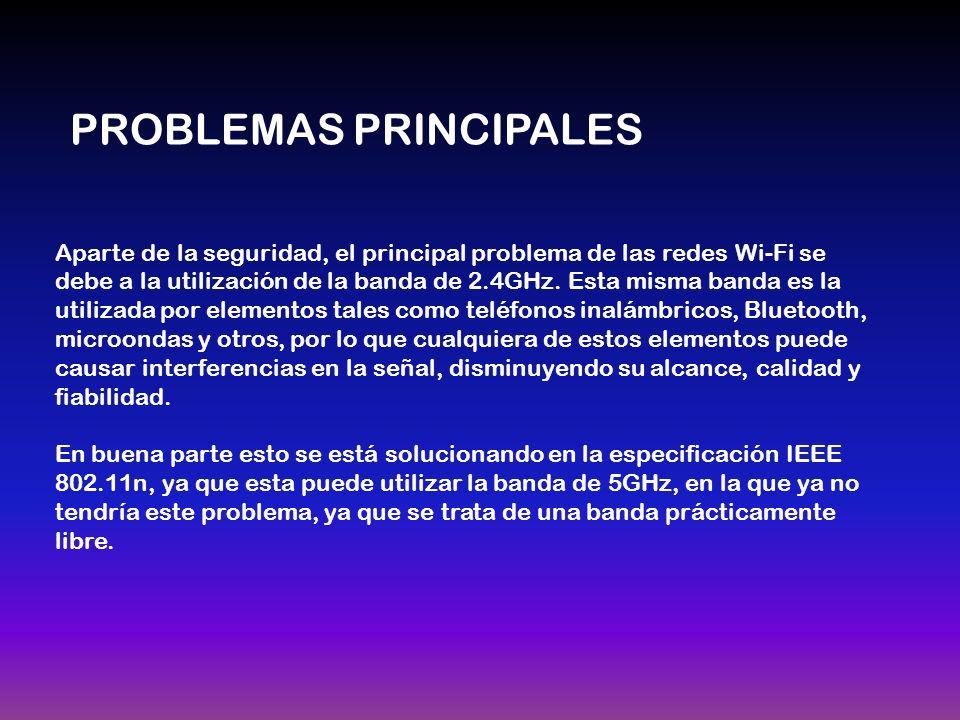 Aparte de la seguridad, el principal problema de las redes Wi-Fi se debe a la utilización de la banda de 2.4GHz.