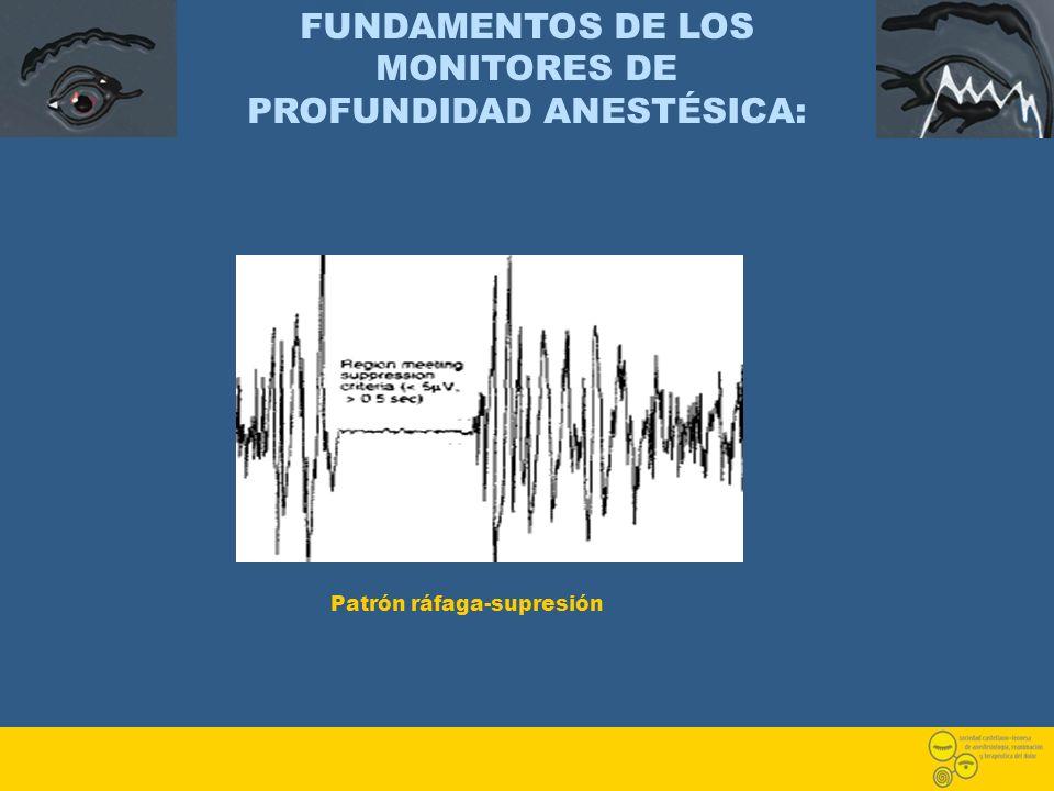 FUNDAMENTOS DE LOS MONITORES DE PROFUNDIDAD ANESTÉSICA: Patrón ráfaga-supresión