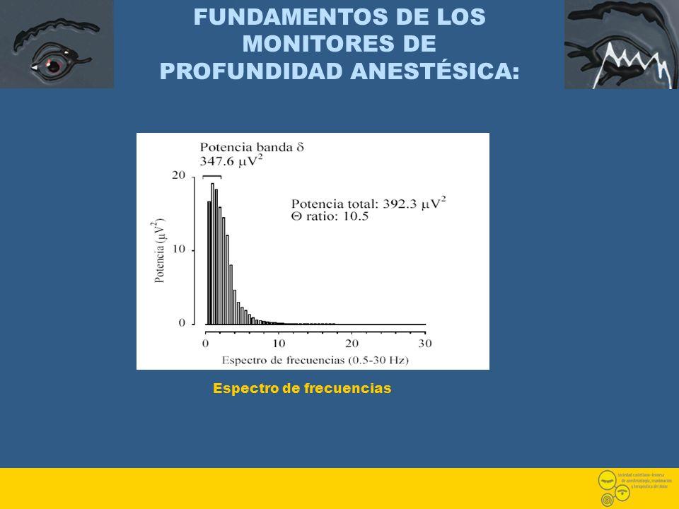 FUNDAMENTOS DE LOS MONITORES DE PROFUNDIDAD ANESTÉSICA: Espectro de frecuencias