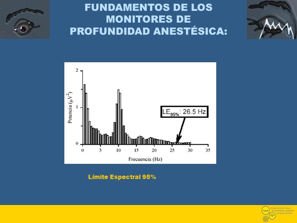FUNDAMENTOS DE LOS MONITORES DE PROFUNDIDAD ANESTÉSICA: Límite Espectral 95%