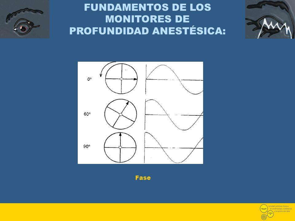 FUNDAMENTOS DE LOS MONITORES DE PROFUNDIDAD ANESTÉSICA: Fase