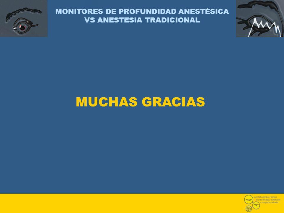 MONITORES DE PROFUNDIDAD ANESTÉSICA VS ANESTESIA TRADICIONAL MUCHAS GRACIAS
