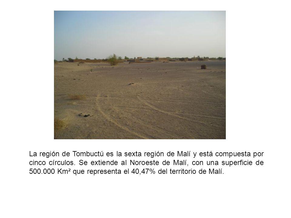 La región de Tombuctú es la sexta región de Malí y está compuesta por cinco círculos.
