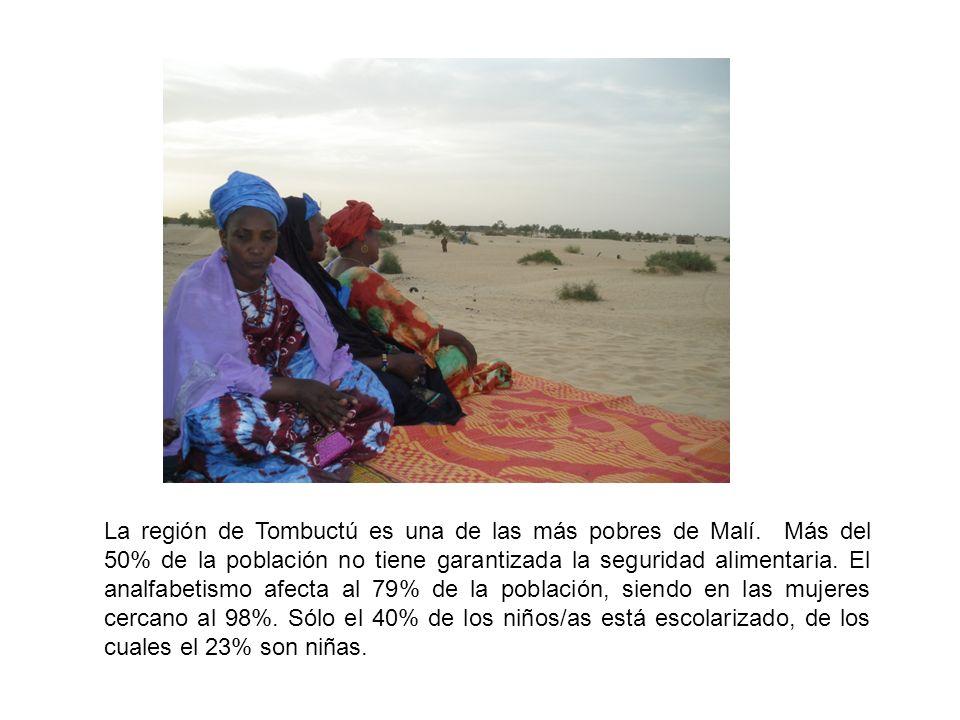 La región de Tombuctú es una de las más pobres de Malí.