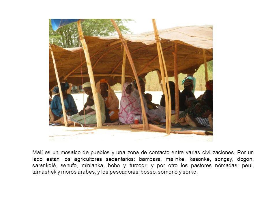 Malí es un mosaico de pueblos y una zona de contacto entre varias civilizaciones.
