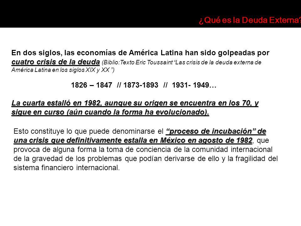 proceso de incubación de una crisis que definitivamente estalla en México en agosto de 1982 Esto constituye lo que puede denominarse el proceso de inc