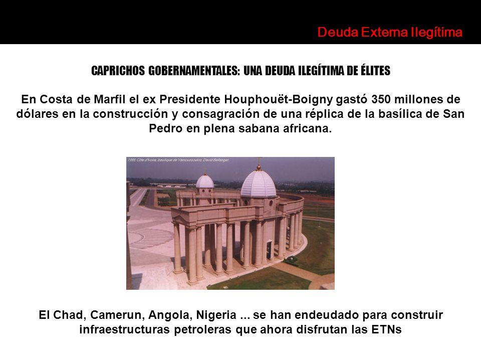 En Costa de Marfil el ex Presidente Houphouët-Boigny gastó 350 millones de dólares en la construcción y consagración de una réplica de la basílica de