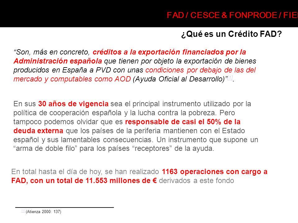 ¿Qué es un Crédito FAD? Son, más en concreto, créditos a la exportación financiados por la Administración española que tienen por objeto la exportació