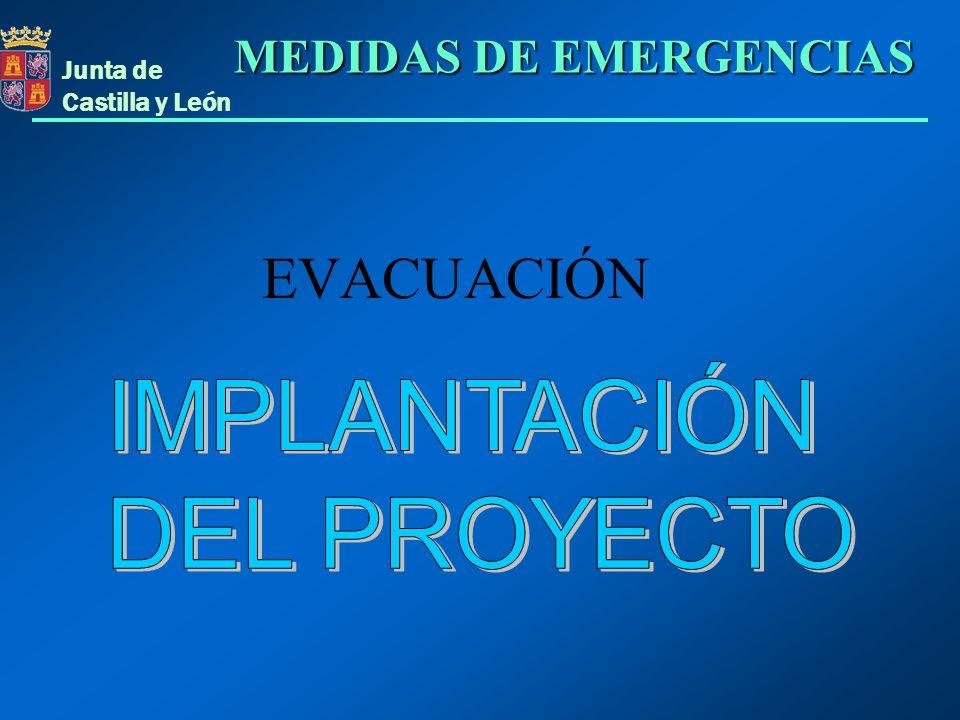 Junta de Castilla y León EVACUACIÓN MEDIDAS DE EMERGENCIAS