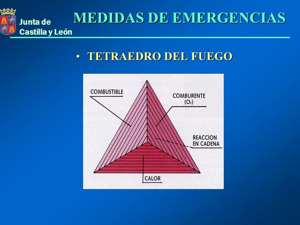 Junta de Castilla y León PROPAGACIÓN DEL CALORPROPAGACIÓN DEL CALOR MEDIDAS DE EMERGENCIAS