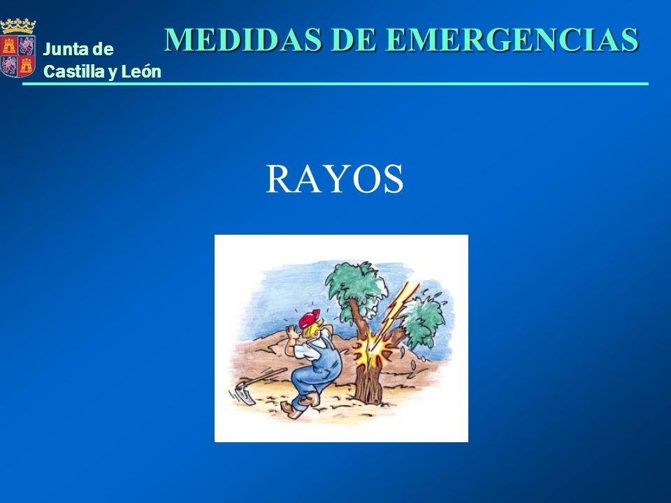 Junta de Castilla y León RAYOS MEDIDAS DE EMERGENCIAS