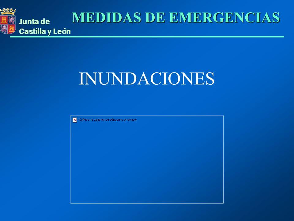Junta de Castilla y León INUNDACIONES MEDIDAS DE EMERGENCIAS