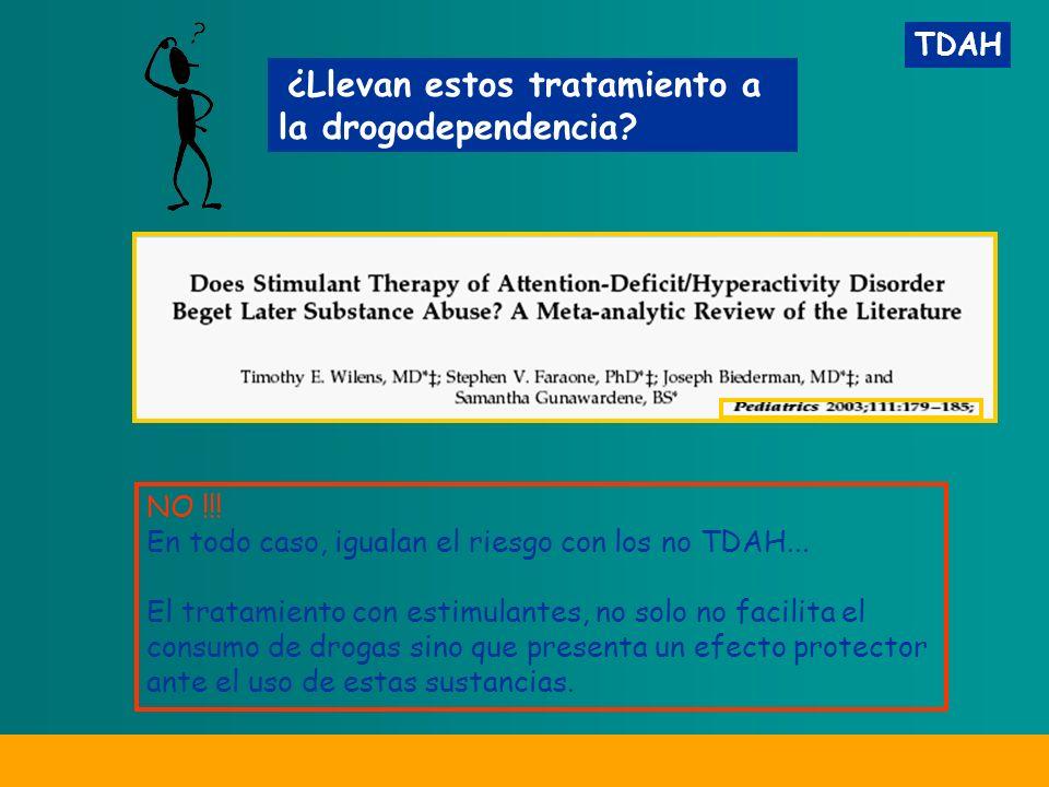 TDAH ¿Llevan estos tratamiento a la drogodependencia.