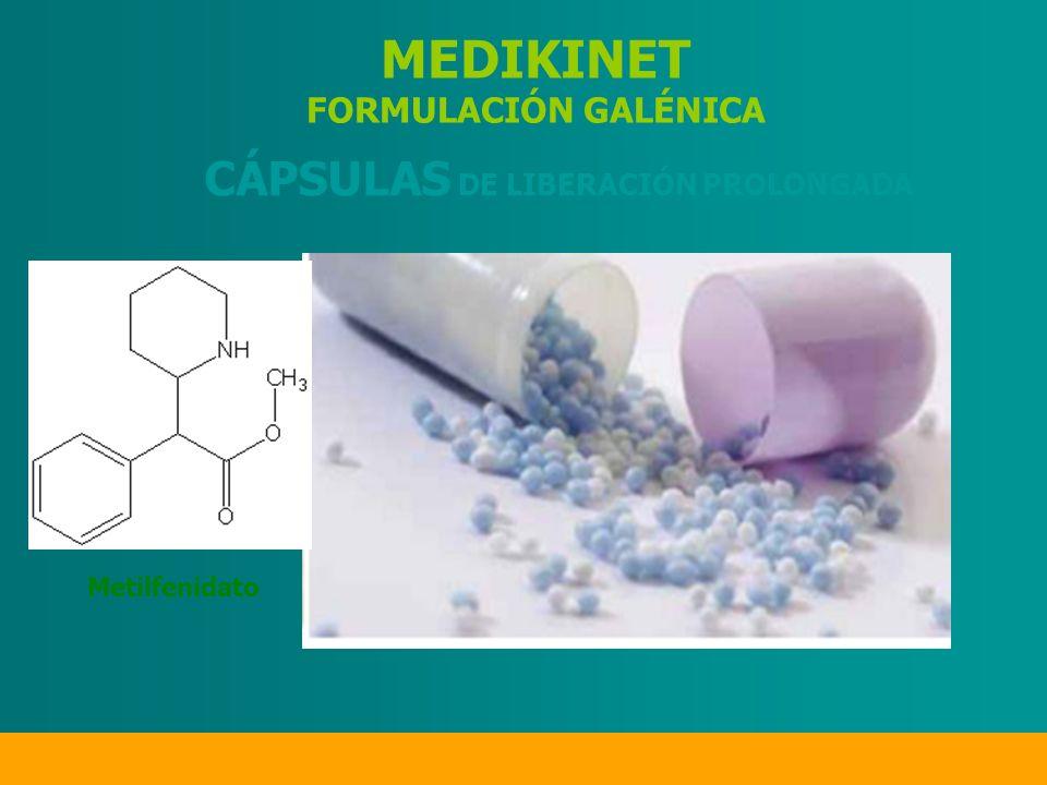 MEDIKINET FORMULACIÓN GALÉNICA CÁPSULAS DE LIBERACIÓN PROLONGADA Metilfenidato