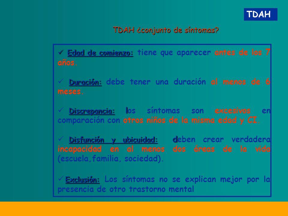 TDAH ¿conjunto de síntomas.