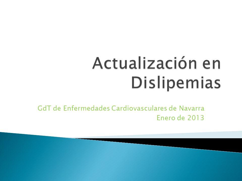 GdT de Enfermedades Cardiovasculares de Navarra Enero de 2013