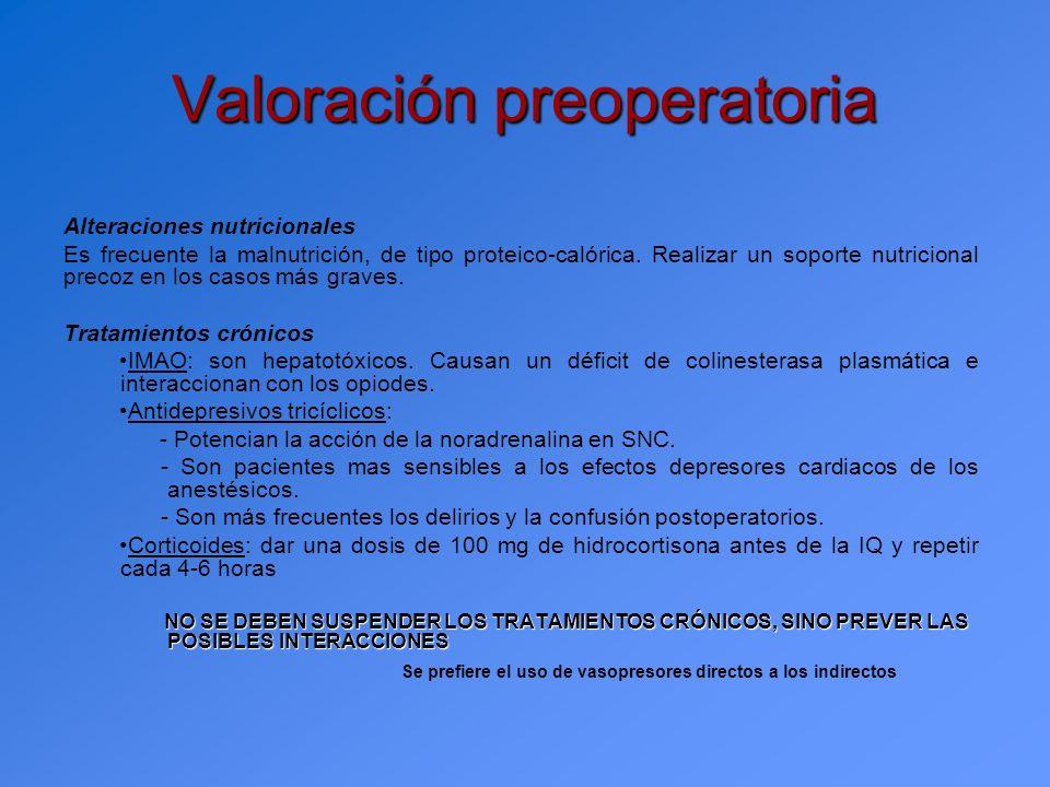 Manejo anestésico Premedicación: - Emplear BZD a bajas dosis v.o.