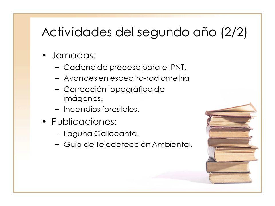 Actividades del segundo año (2/2) Jornadas: –Cadena de proceso para el PNT.