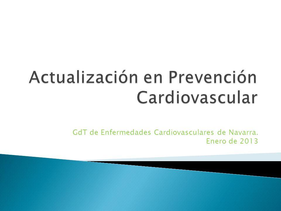 Guía Europea de Prevención Cardiovascular en la práctica clínica.