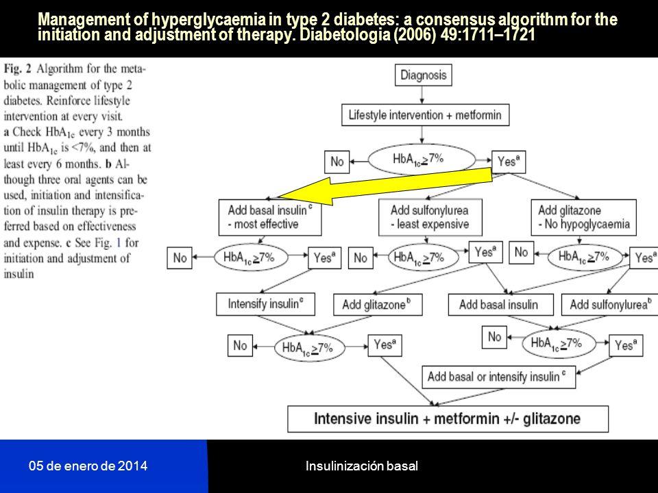Algoritmo ADA-EASD 2008. RedGEDAPS 05 de enero de 2014Insulinización basal
