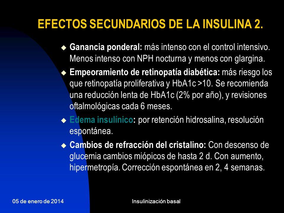 05 de enero de 2014Insulinización basal PREGUNTA ¿cómo empezamos?