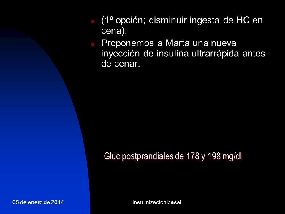 05 de enero de 2014Insulinización basal