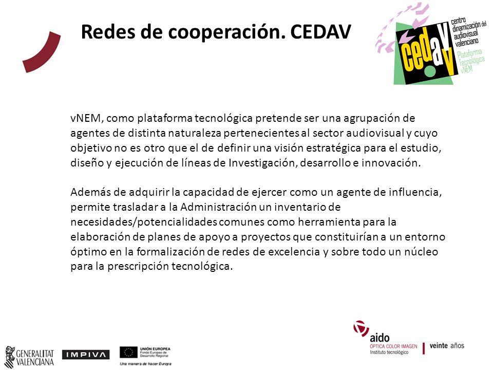 vNEM, como plataforma tecnológica pretende ser una agrupación de agentes de distinta naturaleza pertenecientes al sector audiovisual y cuyo objetivo no es otro que el de definir una visión estratégica para el estudio, diseño y ejecución de líneas de Investigación, desarrollo e innovación.