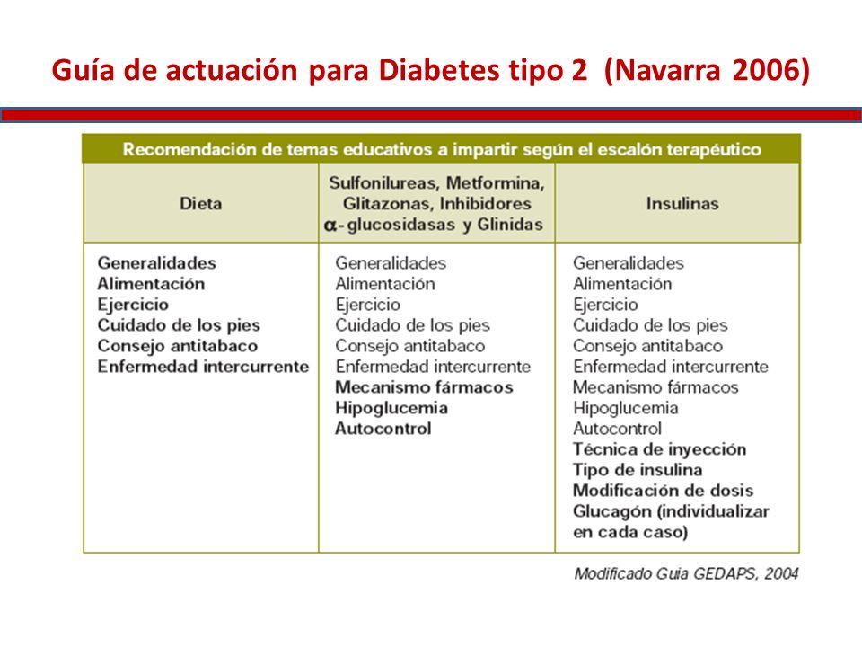 Guía de actuación para Diabetes tipo 2 (Navarra 2006)