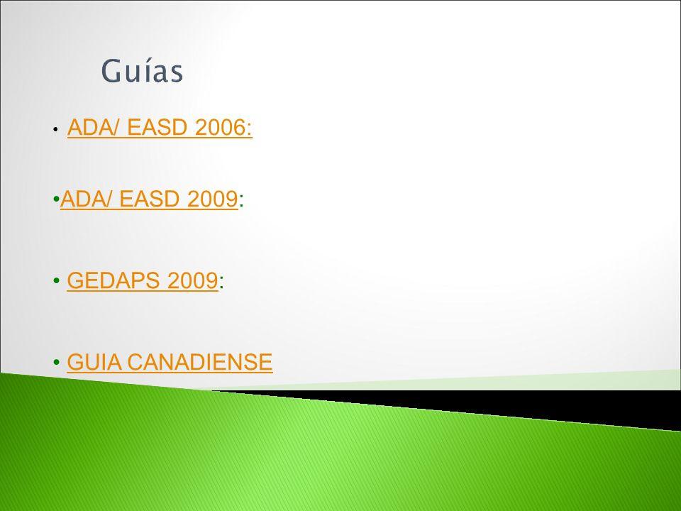 ADA/ EASD 2006: ADA/ EASD 2009:ADA/ EASD 2009 GEDAPS 2009:GEDAPS 2009 GUIA CANADIENSE