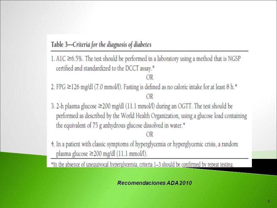 6 Recomendaciones ADA 2010