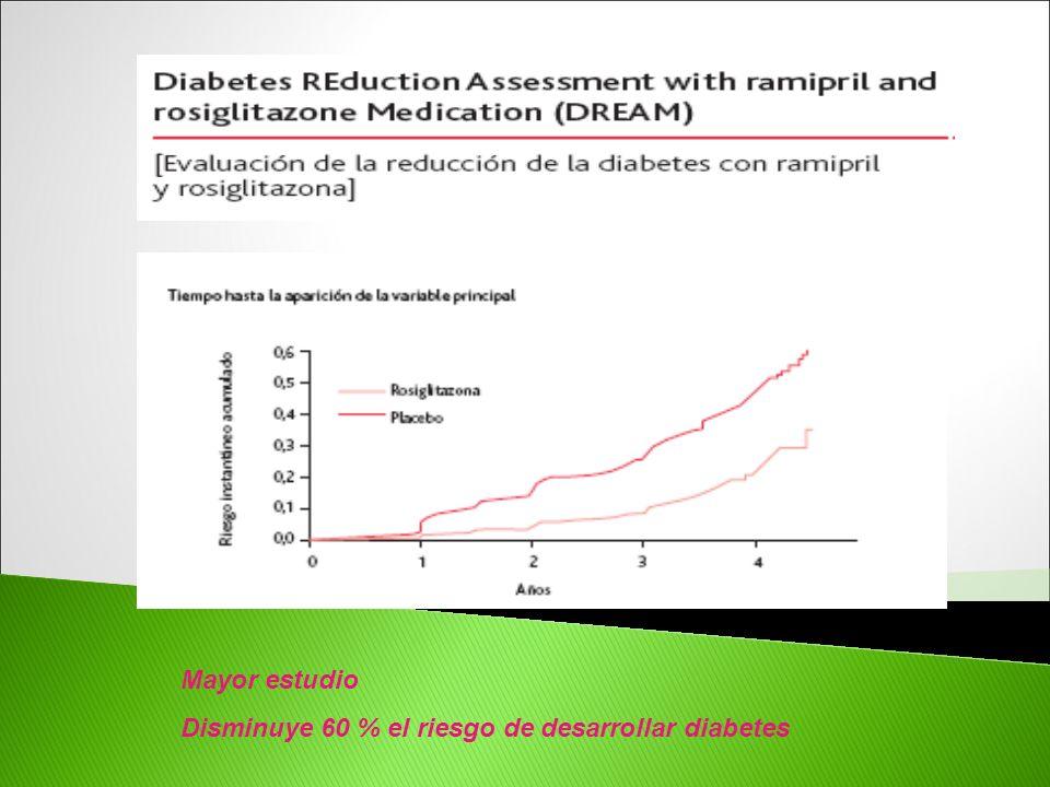 Mayor estudio Disminuye 60 % el riesgo de desarrollar diabetes