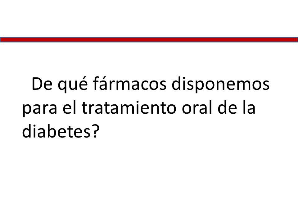 ¿De qué fármacos disponemos para el tratamiento oral de la diabetes?