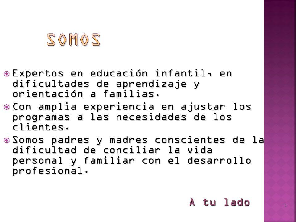 3 Expertos en educación infantil, en dificultades de aprendizaje y orientación a familias.