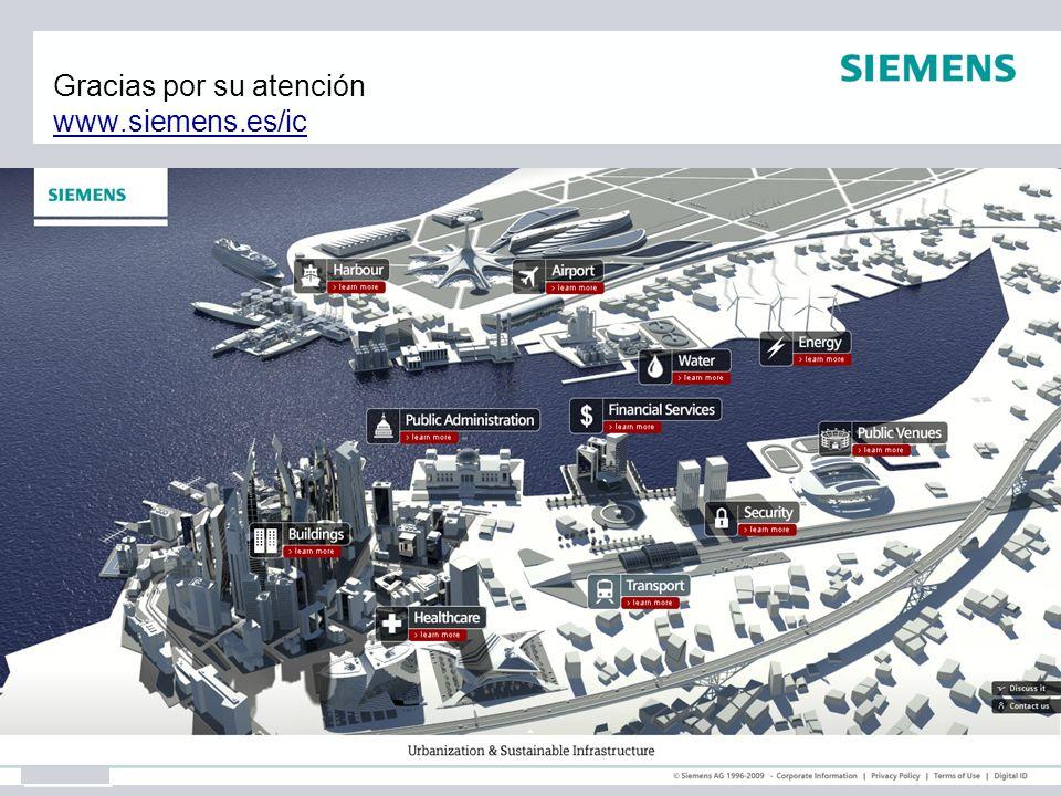 Gracias por su atención www.siemens.es/ic