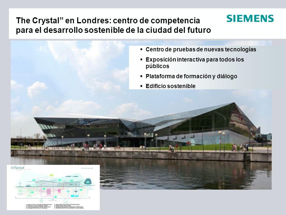 Centro de pruebas de nuevas tecnologías Exposición interactiva para todos los públicos Plataforma de formación y diálogo Edificio sostenible The Cryst