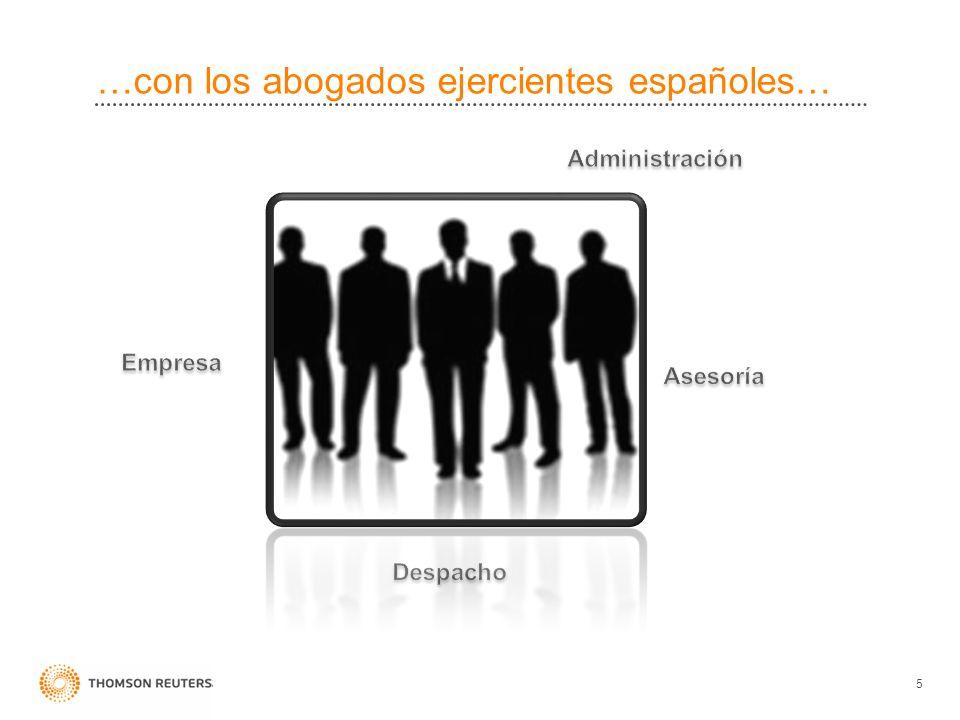 …con los abogados ejercientes españoles… 5