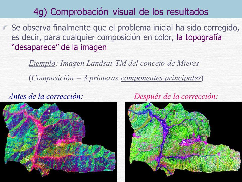 4g) Comprobación visual de los resultados Se observa finalmente que el problema inicial ha sido corregido, es decir, para cualquier composición en col