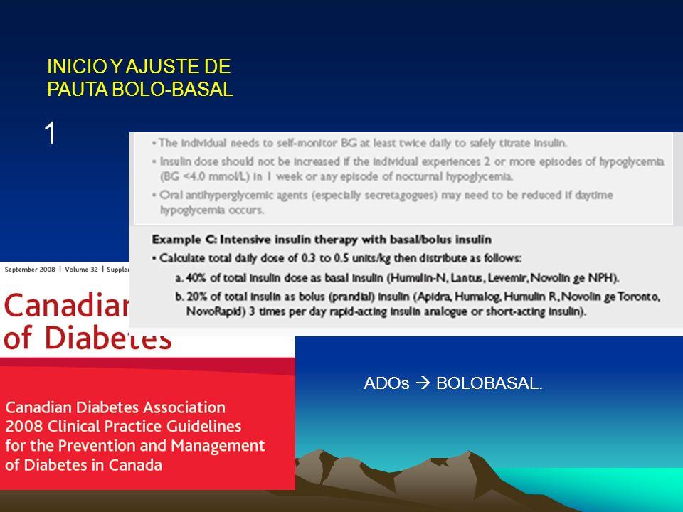 INICIO Y AJUSTE DE PAUTA BOLO-BASAL 1 ADOs BOLOBASAL.