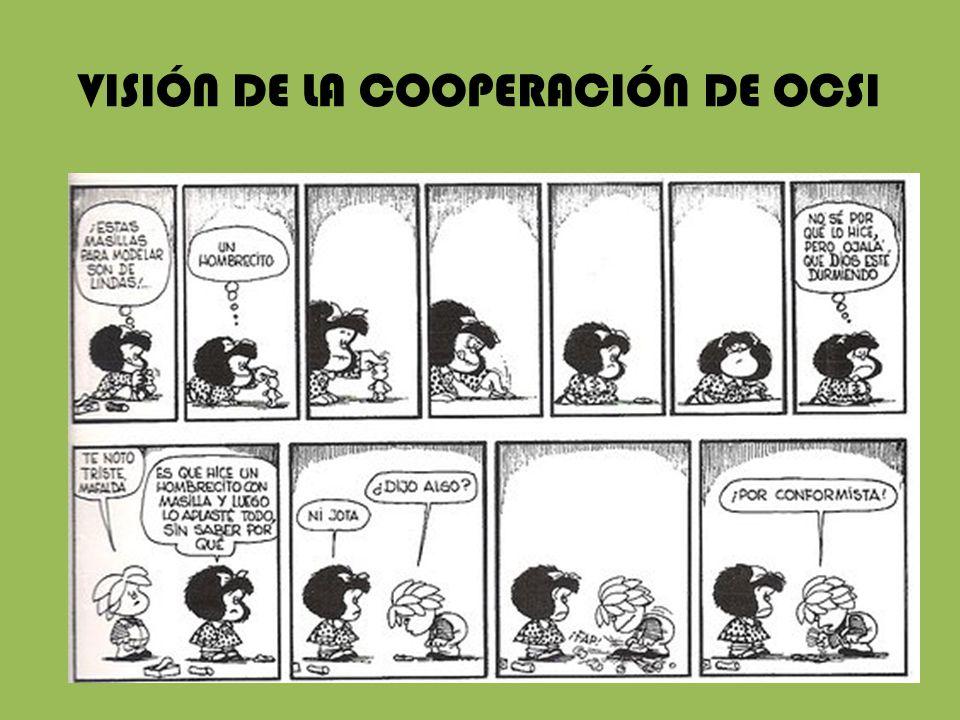 VISIÓN DE LA COOPERACIÓN DE OCSI