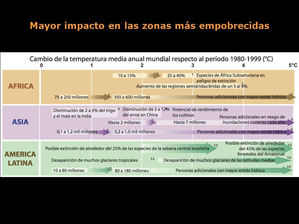 Mayor impacto en las zonas más empobrecidas