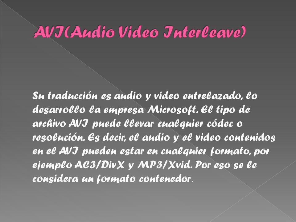 Su traducción es audio y video entrelazado, lo desarrollo la empresa Microsoft.