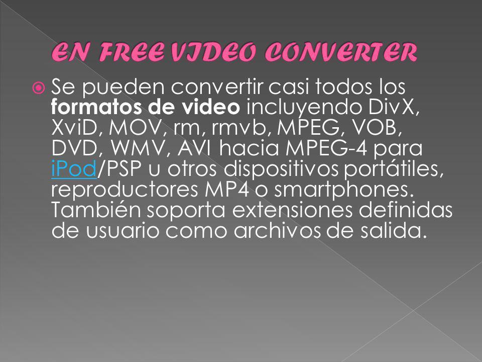 Hay muchísimos mas convertidores de video, pero yo creo que con este se puede cubrir casi todos los formatos imaginables, además es muy sencillo, seguro que os será muy útil:) La página de descarga es : http://koyotesoft.com/indexEn.html