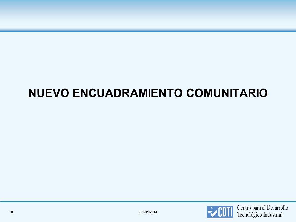 10(05/01/2014) NUEVO ENCUADRAMIENTO COMUNITARIO