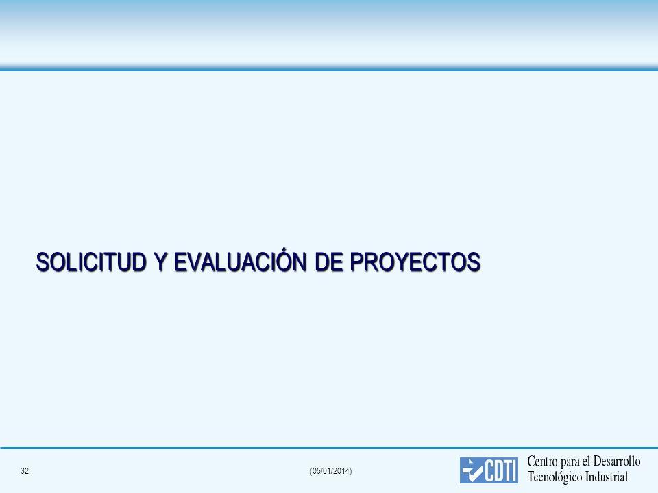 32(05/01/2014) SOLICITUD Y EVALUACIÓN DE PROYECTOS
