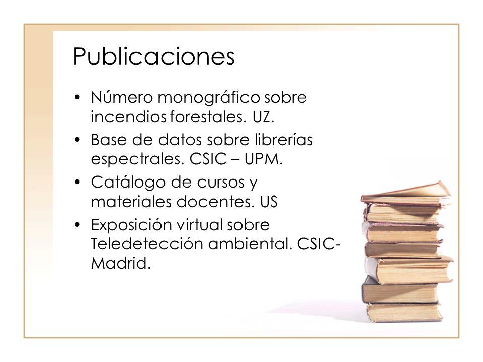Publicaciones Número monográfico sobre incendios forestales.
